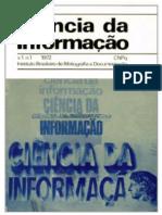 Ciência da Informação - IBICT - v. 1, n. 1 (1972)