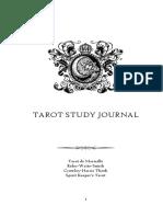 Tarot Study Journal Tdm Rws Thoth Skt
