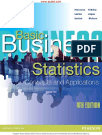 Sample-Basic Business Statistics; Concepts and Applications 4th 4E