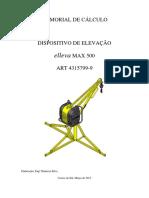 Memorial de Cálculo Mini Grua Elleva Max 500 - Renomaq