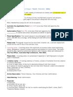 Tourist Visa Checklist