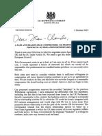 PM Letter to President Juncker
