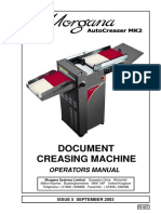 Autocreaser MK 2 Operator Manual