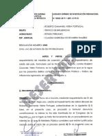 Resolución de impedimento de salida del país contra Roberto Vieira