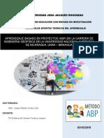 ABP aplicado en la carrera de Ingeniería en Geofísica de la UNAN - Managua.