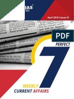 Download Dhyeya IAS Perfect 7 Weekly Magazine in English April 2018 Issue 1 Www.dhyeyaias.com