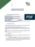 Plan de Lectura Informe D-e Evaluación 18-19