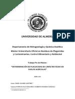 Determinación de Plaguicidas de Carácter Ácido en Suelos Agrícolas-grande Martínez, Angel