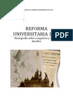 Trabajo Monográfico Reforma Universitaria 1918