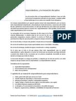 Emprendimientos, Emprendedores, y La Innovación Disruptiva Rlpr 13092019