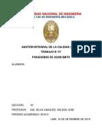 Monografía de paradigmas, Gestion Integral de La Calidad