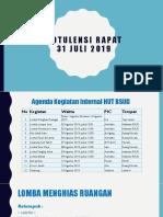 Notulen Rapat 31 Juli 2019 Acara Internal