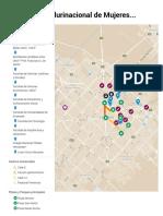 Mapa Encuentro Plurinacional de mujeres y Disidencias