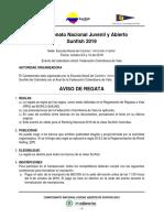 Ar Campeonato Nacional Juvenil 2019 Enap