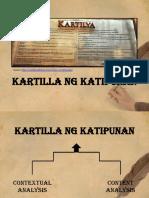 Kartilya ng Katipunan Content and Contextual Analysis