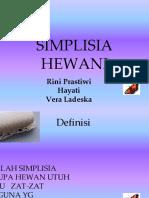 simplisia hewani