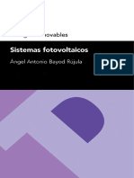 Energías Renovables Sistemas Fotovoltaicos Ángel Antonio Bayod Rújula
