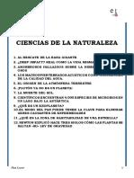 Textos para trabajar comprensión lectora sobre Ciencias Naturales