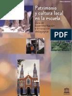 Patrimonio Cultural y Local en La Escuela.