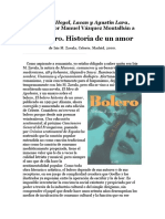 Vázquez Montalban_Prólogo_El Bolero