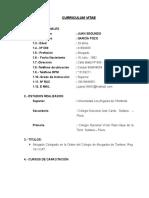 Curriculum Vitae Juan Garcia