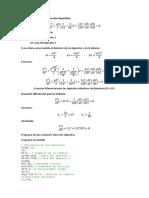 Ecuación Diferencial Para Dos Depósitos