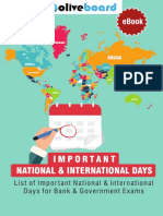 Important national and international days