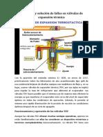 RrDetección y Solución de Fallas en Válvulas de Expansión Térmica