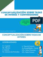 Conceptualizacion de Tasas y Conversiones