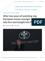 South Africa_PSG_After Two Years of Watching, Top European Money Manager Explains Why He's Now Bought Into PSG Group - Travel High School