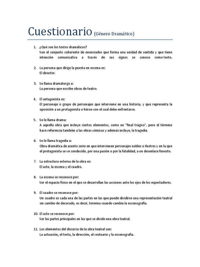 325564106 Genero Dramatico Cuestionario Docx