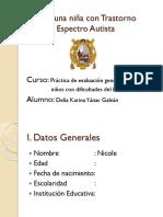 Ejemplo de Un Informe Del Lenguaje Caso de Una Niña Con Tea