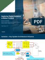 Applying Digital Isolators in Motor Control PCIM2015