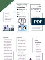 Trifolio Plan Operativo Anual
