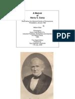 1880 Hc Carey Memoir