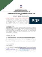 EDITAL II SEMINÁRIO DO PROGRAMA DE MONITORIA UFAL-2