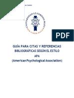 Guía de Citas y Referencias APA