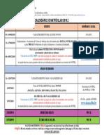 UFBA_NUPEL – Calendário de Matrículas