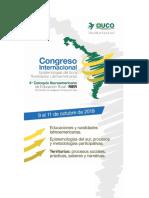 Congreso Epistemologias Del Sur y Ruralidades Latinoamericanas