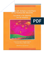 Prácticas Lectura y Escritura en la Educación Superior