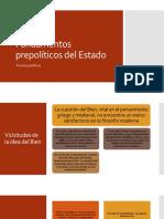 Fundamentos prepolíticos del Estado