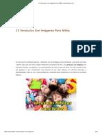 13 Versículos Con Imágenes Para Niños