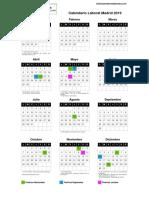 Calendario Laboral 2019 Madrid