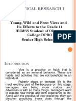 Vices and its effects to the students