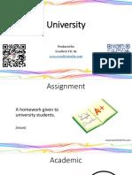 University Flashcards