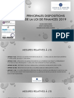 dispositions fiscales 2019
