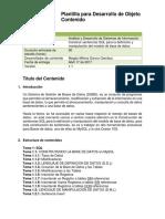Plantilla Desarrollo Objeto de ContenidoSentenciasSQL