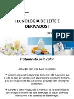 Tecnologia de Leite e Derivados - Aula 5- Pasteurização