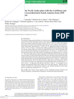 On the interaction of the North Andes plate with the Caribbean and South American plates in northwestern South America from GPS geodesy and seismic data