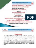 PROYECTO DE GESTIÓN TECNOLÓGICA INSTITUCIONAL